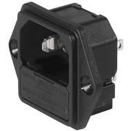 6200, SGE GST, PG05, Kombielement Frontplatte 10A ohne Filter s/w