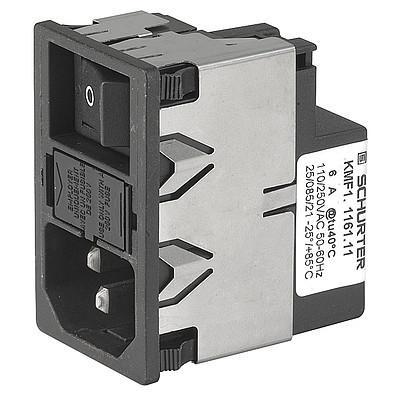 KMF, SGE GST, PG06, Kombielement Frontplatte 10A mit Filter