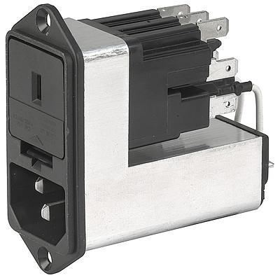 CE, SGE GST, PG06, Kombielement Frontplatte 10A mit Filter