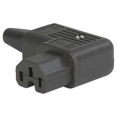 4784, SGE GST, PG07, Gerätesteckdose 10A für Kabel s/w