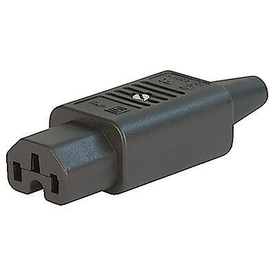 4781, SGE GST, PG07, Gerätesteckdose 10A für Kabel s/w