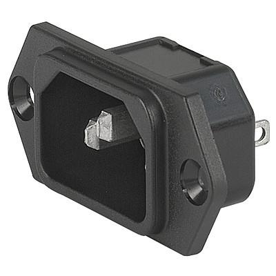 6100-3, SGE GST, PG07, Gerätesteckerkombielement 10A Frontplatte s/w