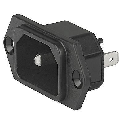 6100-9, SGE GST, PG07, Gerätesteckerkombielement 10A Frontplatte